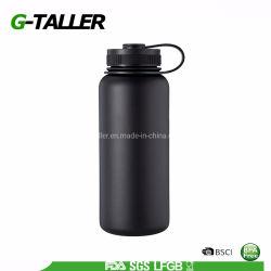 40oz de boca larga garrafa de água em aço inoxidável de parede dupla
