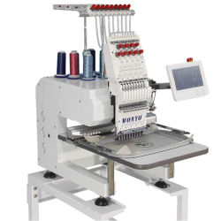 Wonyo Wanyang에 의하여 전산화된 단 하나 맨 위 컴퓨터 Maya는 9개의 색깔 Q201로 셔츠 관 자수 기계를 캡핑한다