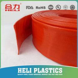 O PVC Soft Flat Leigos flexível 1,5 2 3 4 5 6 8 Polegada Layflat Mangueira de descarga de água de irrigação agrícola