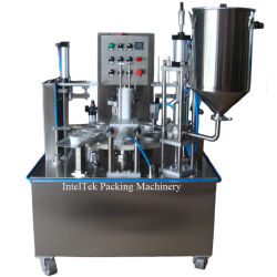 Высокое производство пластмассовых ПЭТ чашки напитка PP ЖИДКОСТИ ЗАПРАВКА герметичность упаковки упаковочные машины
