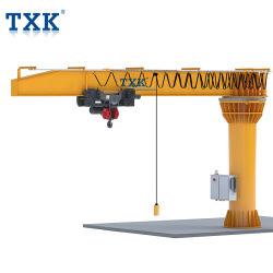 Txk elektrischer schwenker-Boots-Kranbalken-Kran des Mobile-5t Marinemit Drahtseil-Hebevorrichtung