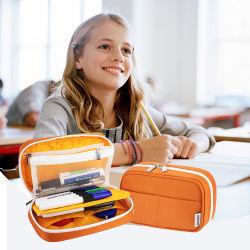 Многофункциональная сумка канцелярских товаров для детей школьного карандашом_case_для_школьные сумки пера молнией карандашом чехол