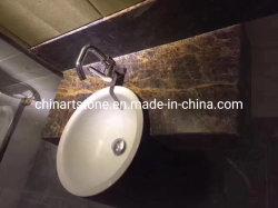 싱크대, 책상 및 도와를 위한 중국 브라운 황금 대리석