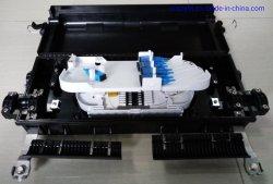 صندوق تقاطعات الألياف 48 إغلاق وصلة خارجية ذات قلب 48 مع 1*8 PLC Splitte ومهايئات Sc Horizontal Type، إغلاق وصلة ألياف ضوئية ثنائية في 2 بوصة