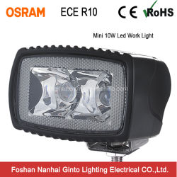 Des ECE-R10 R23 10W 3inch Arbeits-Licht Flut-Punkt-LED für den Auto-LKW nicht für den Straßenverkehr (GT1012A-10W)