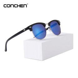 Usine de conception OEM pour nez en silicone Vintage Pad Lunettes de soleil lentille Silver UV400 Custom Gafas Moda