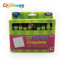 20 El Color de cera de 1.3cm Crayon para estudiante y a los niños