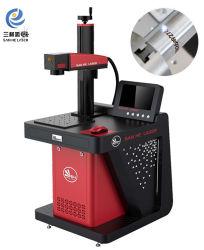 مصنع الصين لصناعة الالياف آلة علامة الليزر مع البلاستيك البلاستيك قالب