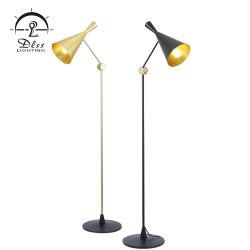 Vintage СВЕТИЛЬНИК РАССЕЯННОГО СВЕТА E27 Эдисон источник ламп черного алюминия утюг напольные лампы