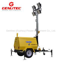 Portable LED 4x300W Éclairage Mobile Tour avec refroidi par air petit générateur 5kw