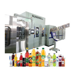330ml 500ml 1500ml garrafa de plástico PET Sumos de frutos sadios bebidas energéticas Bebidas Água Mineral puro máquina de enchimento de Bloco Combi monobloco