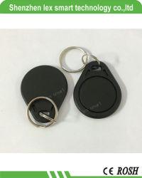 13.56MHz MF IC Etiqueta da chave com a impressão do número de plástico