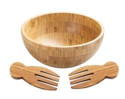 Taça de bambu Custom-Made 3 Conjunto de peça louças de bambu e Utilização da Cozinha versátil
