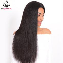 Parrucca grezza della parte anteriore del merletto dei capelli umani del Virgin dei capelli del visone poco costoso diritto brasiliano di estensioni