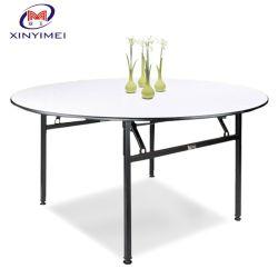 Más estilo de banquete de bodas El Hotel Restaurante plegable de PVC redonda mesa de comedor (XYM-T01).