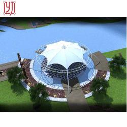 Gazebo tente Pavillon paysage commercial La structure des membranes parapluie de traction
