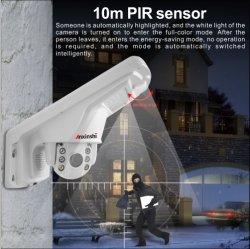 5.0MP 5x Zoom Starlight resistente al agua de la luz de la calle cámara CCTV de infrarrojos inalámbrica WiFi mini cámara domo PTZ
