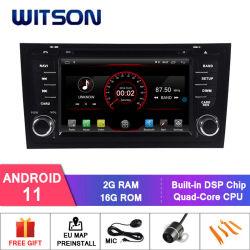 نظام تشغيل DVD للسيارة Wittson Quad-Core Android 11 لنظام تحديد المواقع العالمي من أجل أودي A6/أودي S6/Audi RS6 فيديو عالي الدقة بدقة 1080p