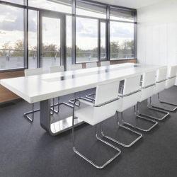 Superficie sólida de alta gama Acrylic Mesa Muebles de oficina