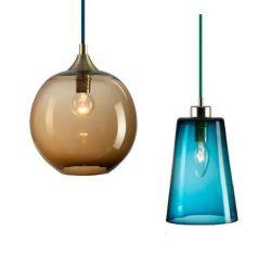 Pendentif en verre coloré moderne lampe avec câble de tricot de couleur (WHG-112)