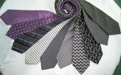 Moda Cor Cinza homens a elevada qualidade da seda Gravatas impresso