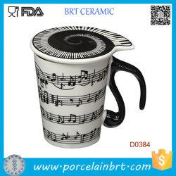 Notas musicales de canciones de piano tiene leche Café Taza de cerámica