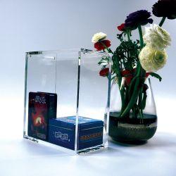 Booster de acrílico transparente personalizada caso protector da caixa com íman
