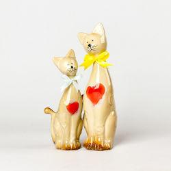 L'amour de chat en céramique pour la maison d'articles de décoration