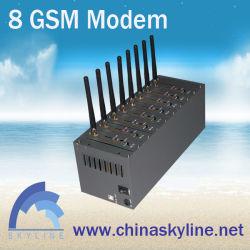 부피 SMS MMS 부피를 보내기를 위한 Wavecom 단위 8 GSM SIM 전산 통신기 USB/RS232 공용영역