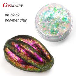 Atóxicos Chamleon Lusters de flocos de unhas de resina transparente com pigmento de flocos de arte