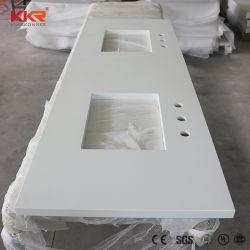 20mm Corian de marbre blanc de l'acrylique Surface solide des comptoirs de cuisine (KKR-2001282)