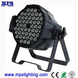 Het binnen LEIDENE DMX PARI kan Lichte 54X3w RGB 3 in 1 voor de Verlichting van DJ en de Verlichting van de Disco wassen
