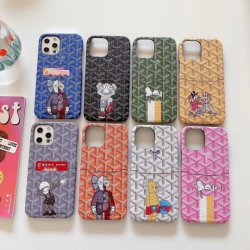 Para el iPhone Teléfono Móvil de lujo en caso de la bolsa de la tarjeta de teléfono de diseño de dibujos animados de la marca de moda para Kaws