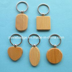 Anello portachiavi di legno ecologico per la promozione (Ele-K068)