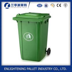 Дружественность к окружающей среде 120L пластмассовых отходов с двумя колесами