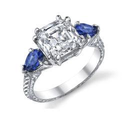 Голубой Топаз 925 серебряные кольца украшения Micro Настройка CZ