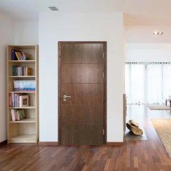カントン Fd60 分耐火ドアフラッシュデザインドアウォールナット インテリアドア用木製ドア