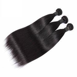 100% Humano Virgen sedoso brasileño recta peluca cabello humano.