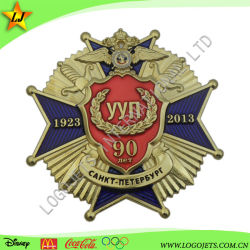 MOQ bajo la insignia de esmalte de alta calidad de la escuela insignia de solapa de metal Badge recuerdo aniversario