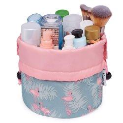 Индивидуальные модели раунда женщин женского туалета хранения пакет поездки органайзера в левом противосолнечном козырьке косметический мешок мешок для макияжа набор туалетных принадлежностей