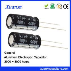 Standardelektrolytische große Aluminiumkapazität des Kondensator-4.7UF400V