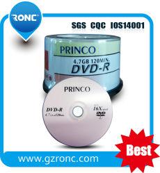 Unbelegter Platten-Hersteller 4.7GB unbelegtes DVD-R 8X