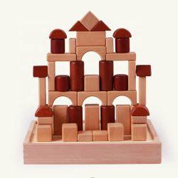 خشبيّة لون قصر قرميد [بيغ بويلدينغ] قالب لعبة الصين محدّد