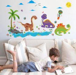 熱い販売PVCドラゴンの壁のステッカーの恐竜のステッカーの子供部屋の装飾