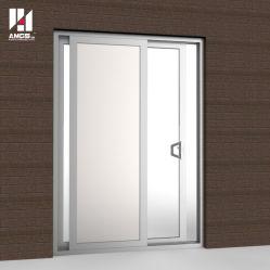 Porte coulissante en aluminium personnalisé pour le Shopping Mall, bureau, école et de bâtiment commercial