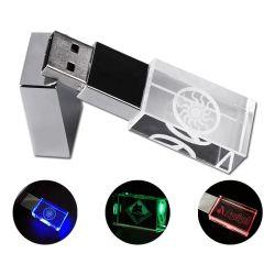 Azionamento su ordinazione dell'istantaneo del USB del cristallo 8GB 16GB 32GB di illuminazione di marchio LED