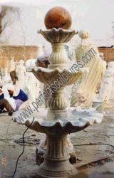 Fontein van het Water van de Bol van het Graniet van de Steen van de tuin de Marmeren voor Fengshui (sy-F073)