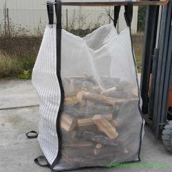 FIBC PP sacos de malha ventilada forte para lenha Batatas Chips de madeira