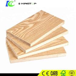 Épaisseur 18 mm, colle E0, plaque de blocage en mélamine/panneaux à panneaux Lattés, noyau en pin