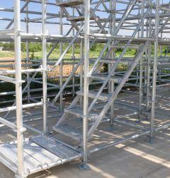 강철 Q355b 최신 복각 건물 또는 갱도 또는 브리지 Construciton를 위한 직류 전기를 통한 Layher 시스템 Ringlock 비계 또는 비계